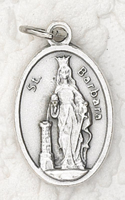 25-Pack - Oxidized Pendant-St Barbara