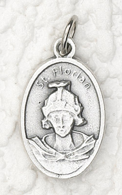 25-Pack - Oxidized Pendant of St Florian