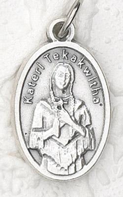 25-Pack - Oxidized Pendant- Blessed Kateri Tekakwintha