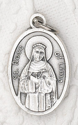 25-Pack - Oxidized Pendant- St Rose of Lima