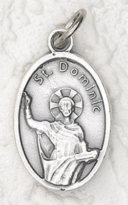 25-Pack - Oxidized Pendant- St Dominic