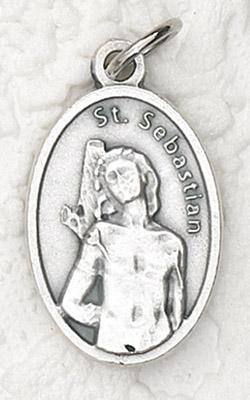 25-Pack - Oxidized Pendant- St Sebastian
