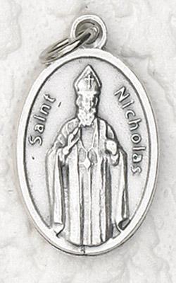 25-Pack - Oxidized Pendant- St Nicholas