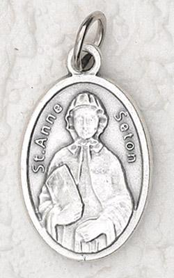 25-Pack - Oxidized Pendant- St Elizabeth Ann Seton