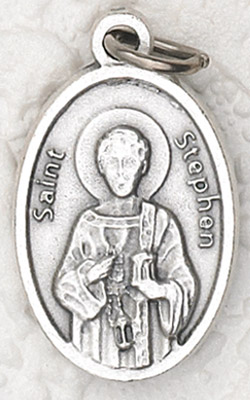 25-Pack - Oxidized Pendant- St Stephen
