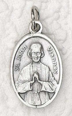 25-Pack - Oxidized Pendant- St John Vianney