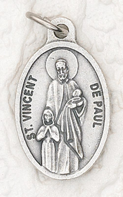 25-Pack - Oxidized Pendant-St Vincent De Paul