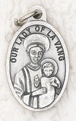 25-Pack - Oxidized Pendant-Lady of La Vang