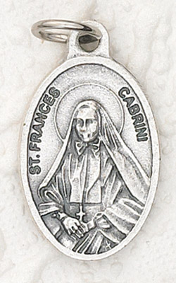 25-Pack - Oxidized Pendant-St Frances Cabrini