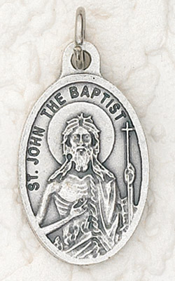 25-Pack - Oxidized Pendant-St John the Baptist