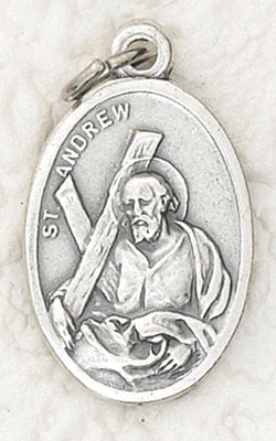 25-Pack - Oxidized Pendant-St Andrew