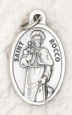 25-Pack - Oxidized Pendant-St Rocco