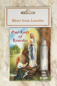 12-Pack - Water from Lourdes- contains vile with water from Lourdes