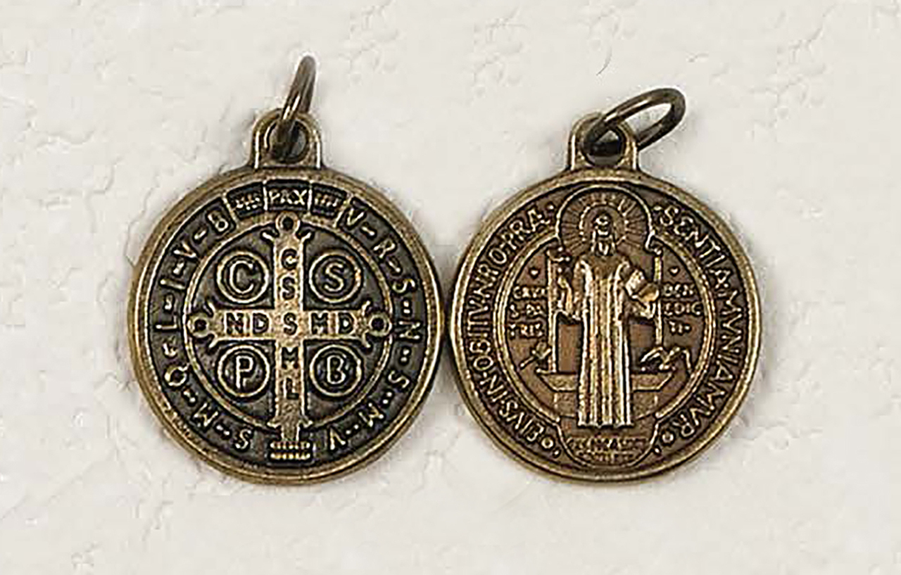 50-Pack - Brass St Benedict Medals