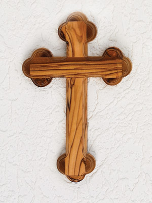 5 inch Olive Wood Cross - Eastern Style