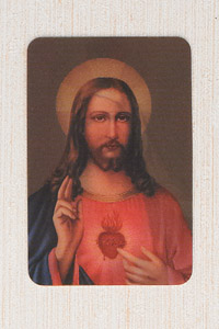 12-Pack - 3-D Card - Sacred Heart of Christ/ Immaculate Heart of Mary