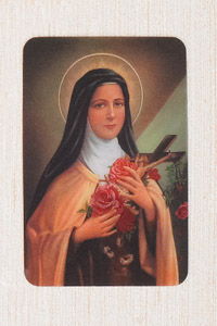 12-Pack - 3-D Card St Therese of Liseaux