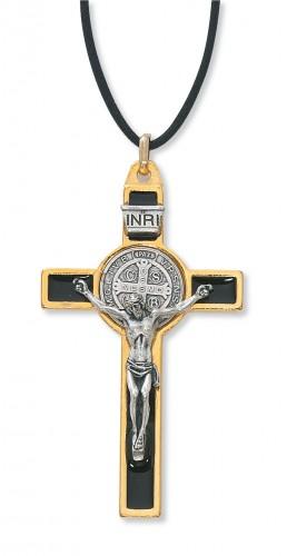 """3"""" Gold St. Benedict Crucifix"""