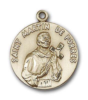 14K Gold St. Martin de Porres Pendant - Engravable