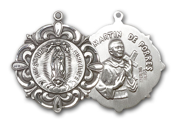 Sterling Silver Our Lady of Guadalupe / Martin de Porre