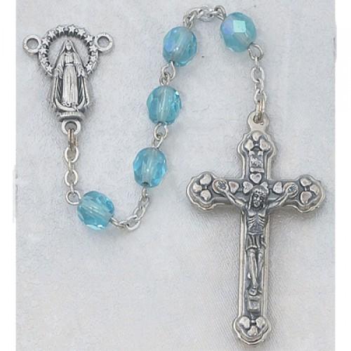 6MM AB Aqua/March Rosary
