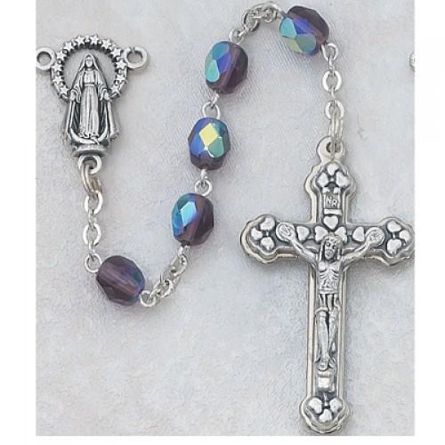 6MM AB Dark Amethyst/Feb Rosary