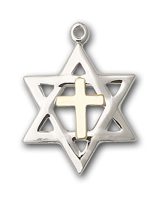 Two-Tone Sterling Silver and Gold-Filled Star of David Pendant
