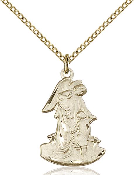 Gold-Filled Guardian Angel Pendant