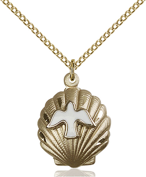 Gold-Filled Shell / Holy Spirit Pendant