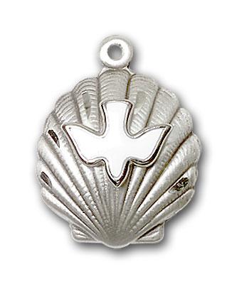 Sterling Silver Shell / Holy Spirit Pendant