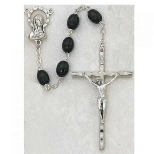6X8 Mm Black Wood Rosary
