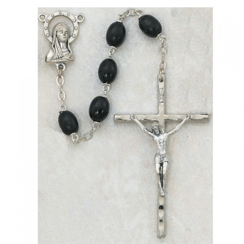 6X8 Mm Black Wood Rosary