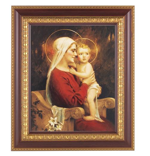 "Chambers:Madonna and Child Cherry Frame 10.25X12.25"" 8X10Prt"