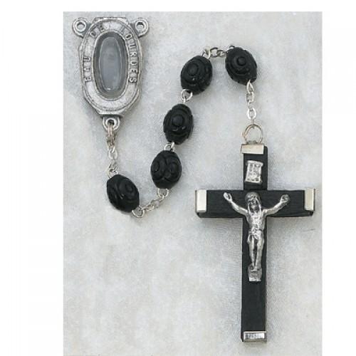 5X7MM Black Lourdes Rosary