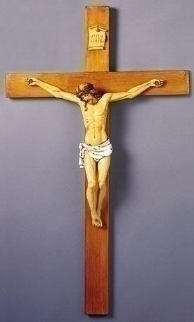 40-inch Fontanini Woodtone Crucifix