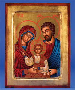 The Holy Family- hand-painted icon