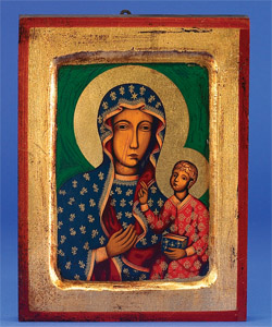 12 x 9 Lady of Czestochowa Gold Leaf