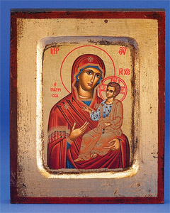 Amolintos (Mary with Jesus)- Hand-Carved and Painted