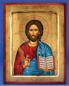 Pantocrator  Hand-Carved and Painted