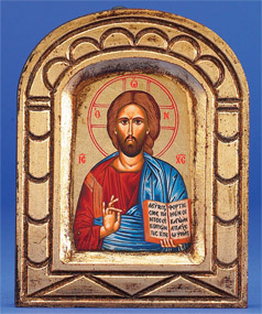 Pantocrator (Christ the Teacher)- Hand-Carved and Painted