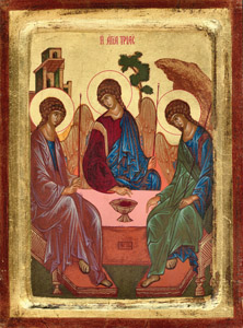 12 x 9 inch Hand Painted Version of Rublev's trinity