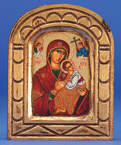 Greek Icon - Painted - Holy VIrgin Mary of Roses