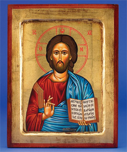 Christ The Teacher - (Pantocrator) Hand Painted on Canvas