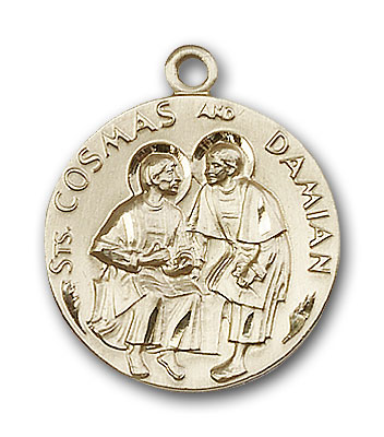 Gold-Filled Sts. Cosmos & Damian Pendant