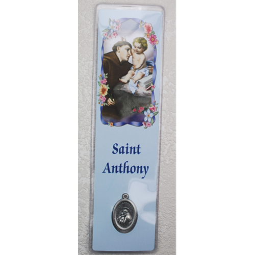St. Anthony Bookmark with Medal