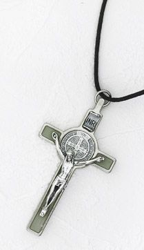 3 inch St Benedict Crucifix with Luminous