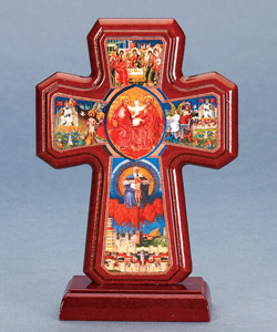 Cross of the Trinity on Base - 7 inch  Boxed
