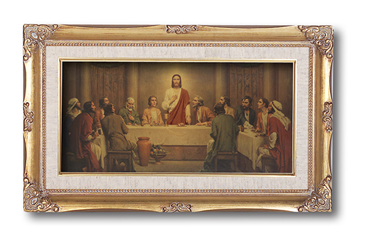 Chambers Last Supper 14X24 Gold Leaf Frame
