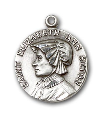 Sterling Silver St. Elizabeth Ann Seton Pendant