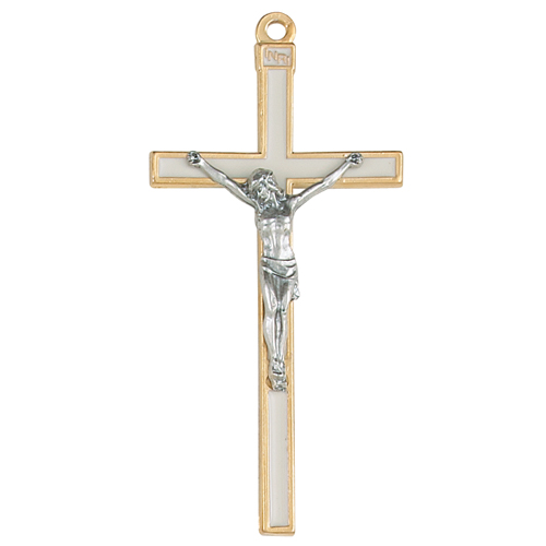 """5"""" Crucifix with White Epoxy"""